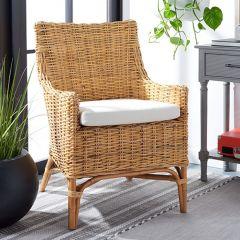 Natural Rattan Accent Chair