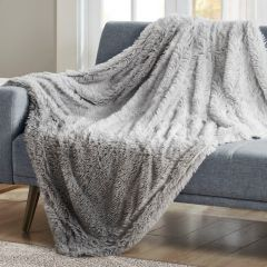 Faux Shaggy Fur Throw Blanket
