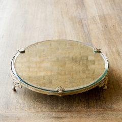 Antiqued Brass Mirror Riser