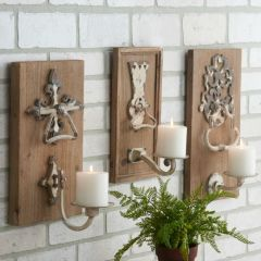 Wall Sconce With Knob Detail Set of 3