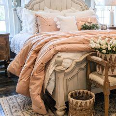 3 Piece Chic Blush Comforter Set