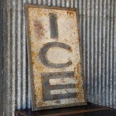 Vintage Style Metal Ice Sign