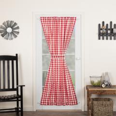 Buffalo Check Door Panel Curtain