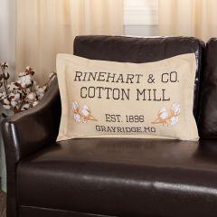 Cotton Mill Throw Pillow