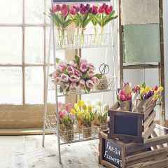 Decorative Iron Basket Stand