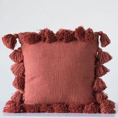 Russet Tasseled Slub Pillow