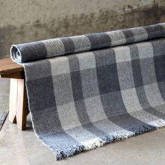 Plaid Fringe Wool Accent Rug
