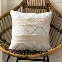 Criss Cross Textured Pillow