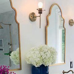 Metallic Finish Frame Mirror