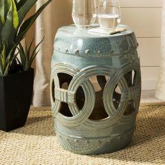 Ornate Ceramic Garden Stool