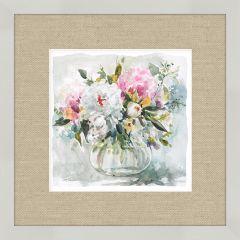 Framed Flowers In Glass Vase Wall Art