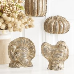 Antiqued Turkey Candy Molds Set of 2