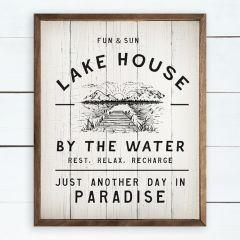 Fun and Sun Lake House Wall Sign