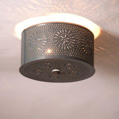 Rustic Country Flush Mount Ceiling Light