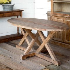 Wood Trestle Dining Table