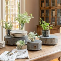 Intricate Round Display Risers Set of 3