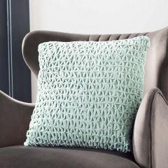 Textured Chic Mint Accent Pillow 18x18