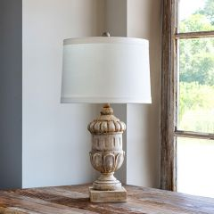 Weathered Urn Base Table Lamp