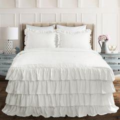 Layered Ruffle Bedspread Set