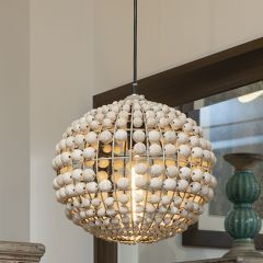 Beaded Spherical Pendant Lamp