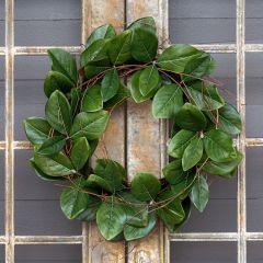 Southern Magnolia Leaf Wreath