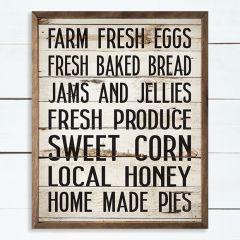 Fresh and For Sale Framed Farmhouse Sign