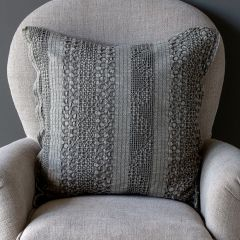 Smoky Waffle Weave Accent Pillow