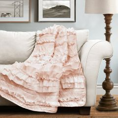 Ruffled Country Chic Throw Blanket