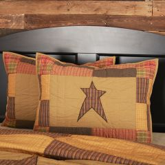 Rustic Cabin Star Sham Set of 2 Standard