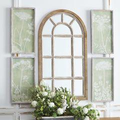 Fir Framed Pale Flower Prints Set of 4
