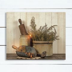 Rustic Country Kitchen Wall Art