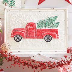 Glitter Farm Truck Iron Wall Art