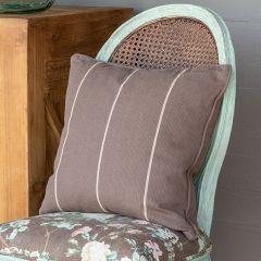 Simple Stripe Mocha Accent Pillow