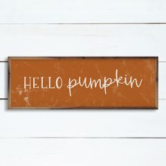 Hello Pumpkin Orange Wall Art