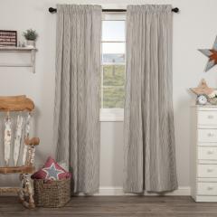 Ticking Stripe Seersucker Curtain Panels Set of 2