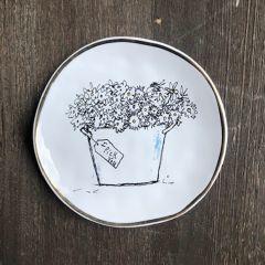 Round Ceramic Trinket Dish Set of 2