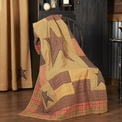 Rustic Star Quilted Throw Blanket