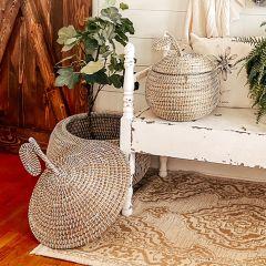Pear-Shaped Baskets Set of 2