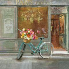 Bike Basket Floral Wall Art
