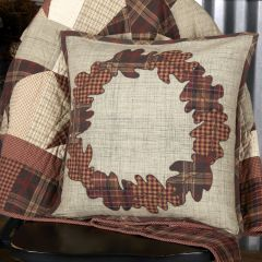 Farmhouse Harvest Wreath Throw Pillow
