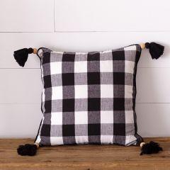 Tasseled Buffalo Check Accent Pillow