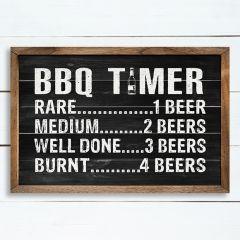 BBQ Timer Black Wall Sign