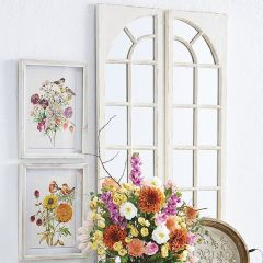 Windowpane Wall Mirror Panel Set of 2