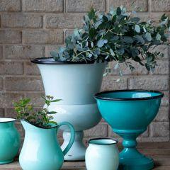 Enamel Estate Urn Planter