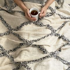 Aspen Diamond Tufted Throw Blanket