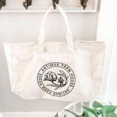 Antique Farmhouse Canvas Bag