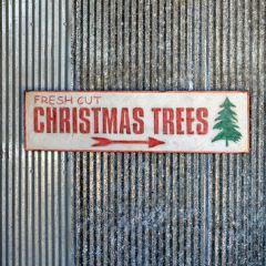 Christmas Trees Arrow Sign