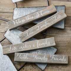 Inspirational Wood Tabletop Signs Set of 4