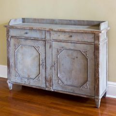 Elegant Weathered Console Cabinet