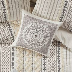 Embroidered Decorative Medallion Pillow